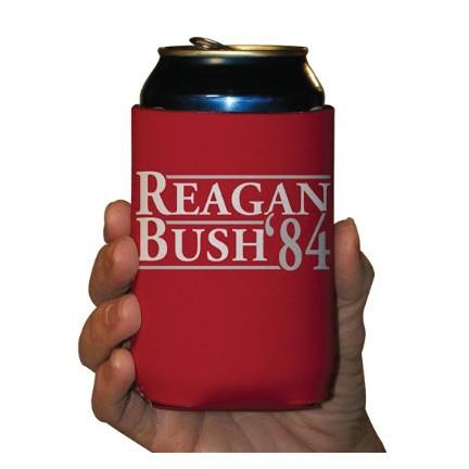 A red can cooler