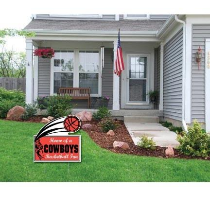 "Rectangle with Swoosh 22x22"" Corrugated Plastic Yard Sign"
