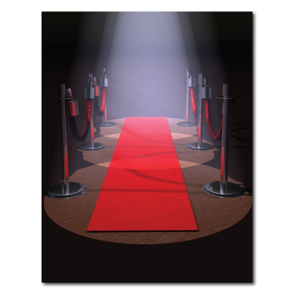 Red Carpet Vinyl Photography Backdrop - 8'x10' or 8'x14'