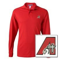 School Approved Red Long Sleeve Embroidered Polo