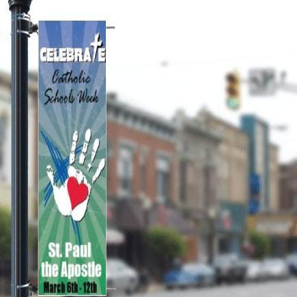 A personalized Pole banner
