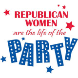 Republican Women are the Life of the Party White T-Shirt