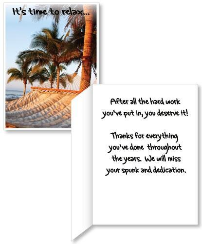 Retirement Hammock Card - 3' Standard Card
