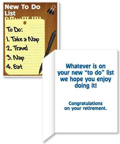 "Giant 18"" x 24"" Retirement To Do List Card (Stock Design)"
