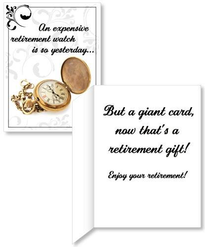 Giant Retirement Watch Card - 3' Stock Design