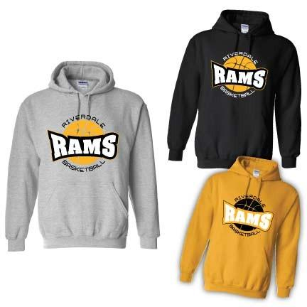 Riverdale Rams Basketball Hooded Sweatshirt