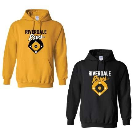 Riverdale Rams Baseball Hooded Sweatshirt