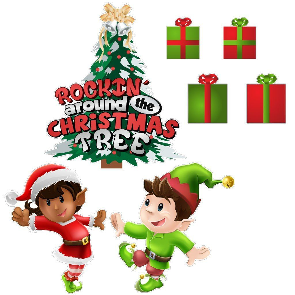 Rockin' Around the Christmas Tree Christmas Lawn Decoration - FREE SHIPPING