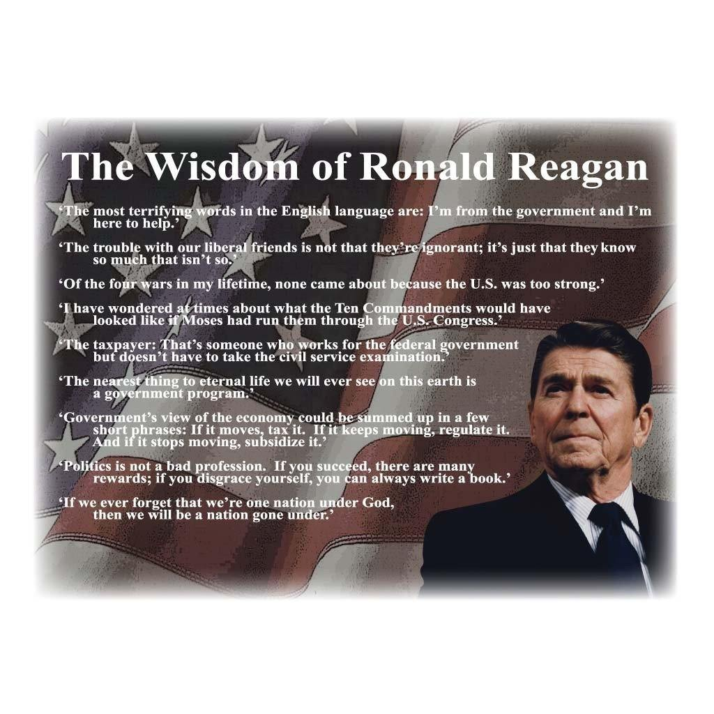 A list of Ronald Reagan Quotes