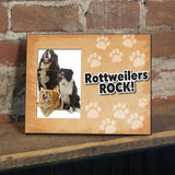 Rottweilers Rock Dog Picture Frame - Holds 4x6 picture