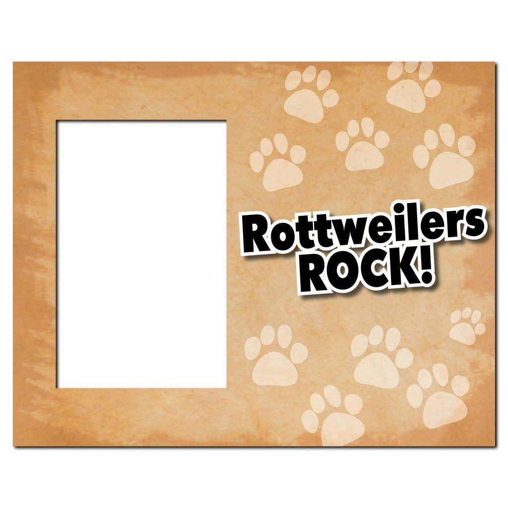 "A picture frame that says ""Rottweilers Rock!"""