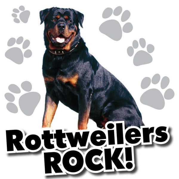 Rottweilers Rock! White T-Shirt