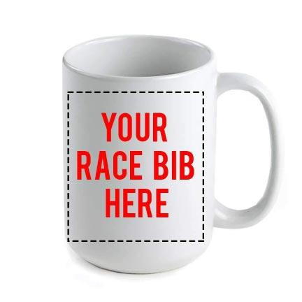 Custom Runners Race Bib Coffee Mug