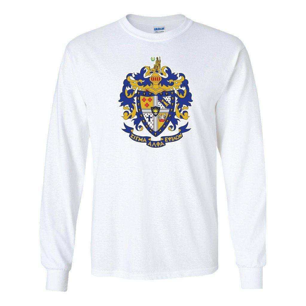 Sigma Alpha Epsilon Long Sleeve T-Shirt Coat of Arms - FREE SHIPPING