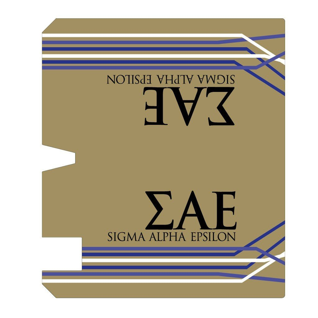 Sigma Alpha Epsilon Magnetic Mailbox Cover - Design 2