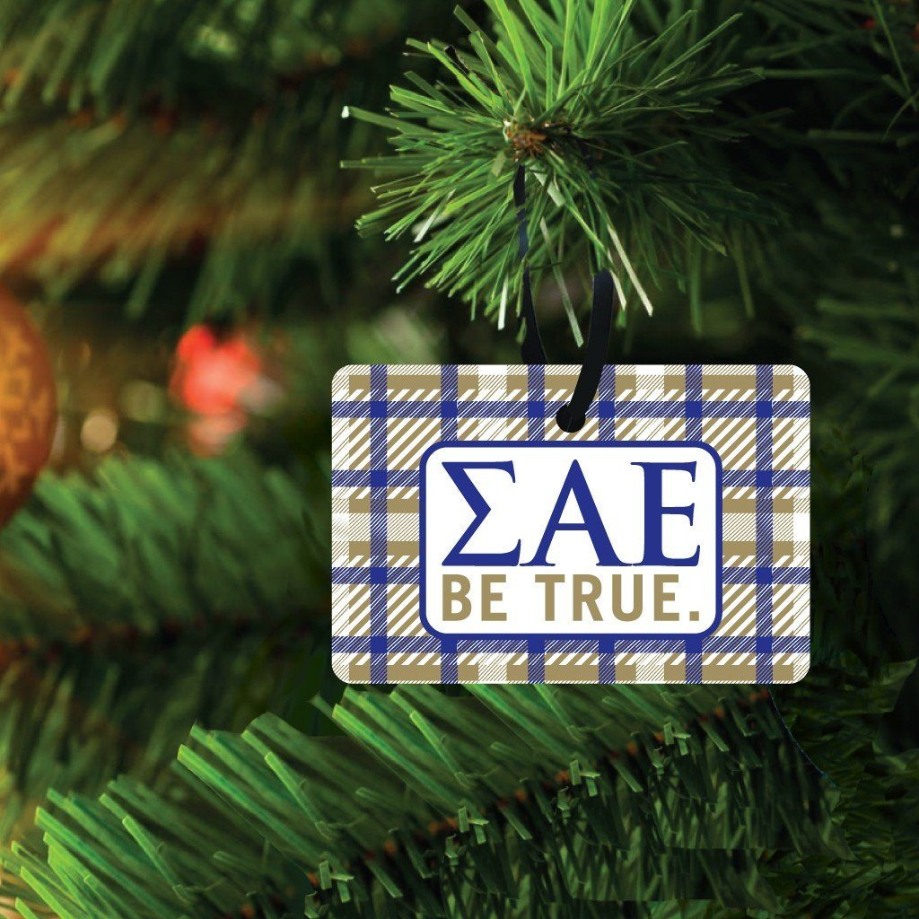 Sigma Alpha Epsilon Ornament - Set of 3 Rectangle Shapes - FREE SHIPPING