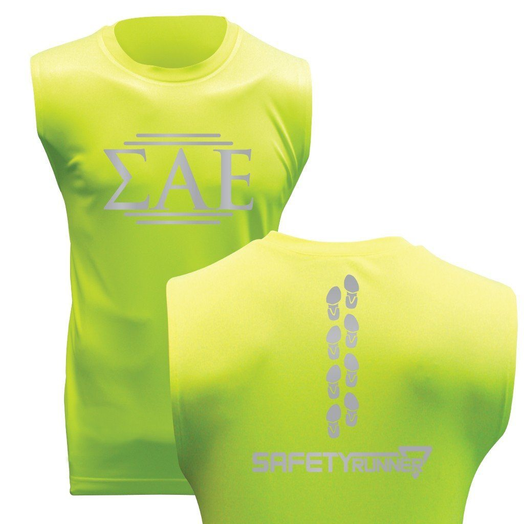 Sigma Alpha Epsilon SafetyRunner Men's Performance Sleeveless Jersey - FREE SHIPPING