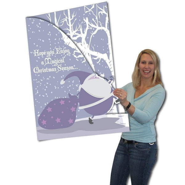 Giant Christmas Card, Santa, W/ Envelope - Stock Design