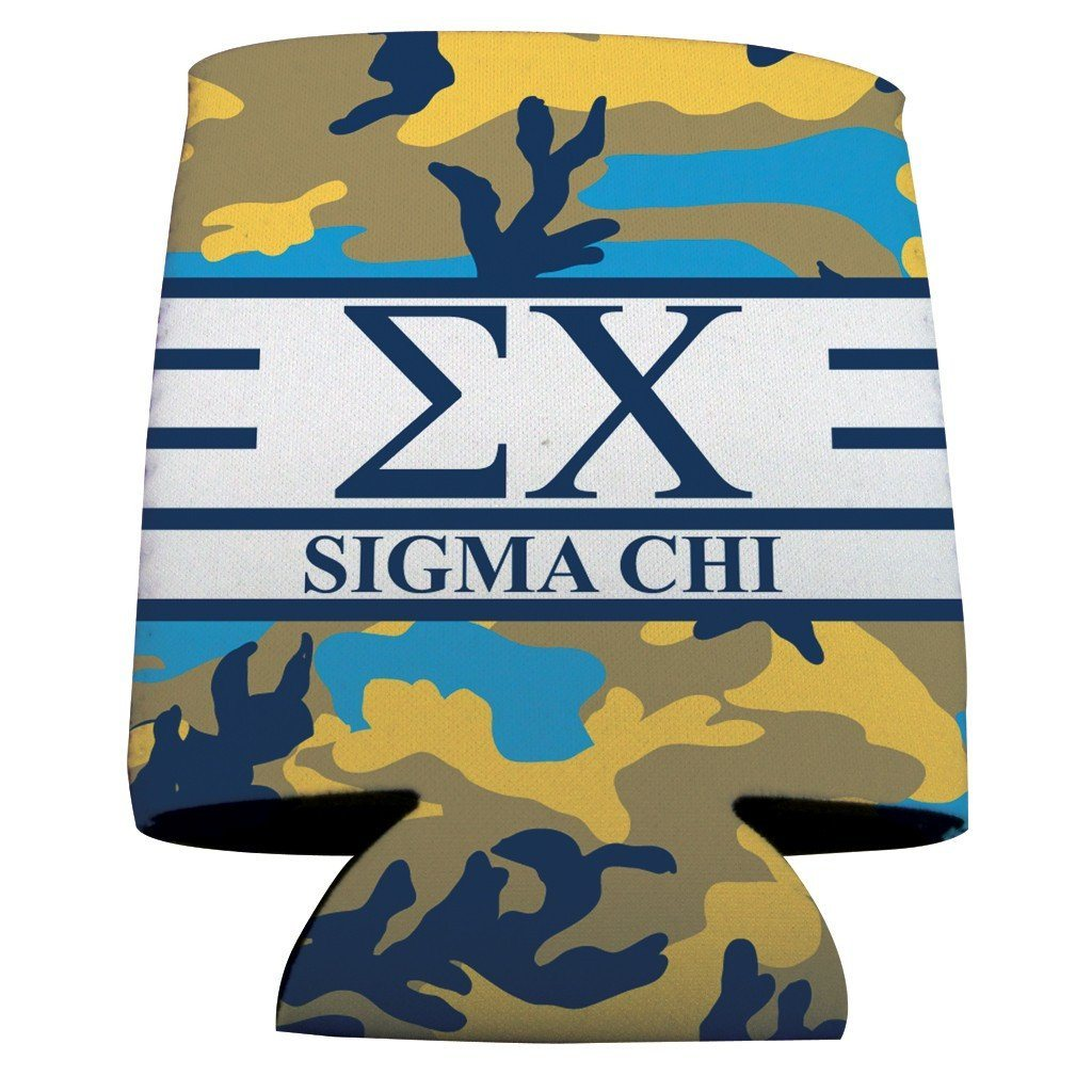 Sigma Chi Can Cooler Set of 12 - Army Camo FREE SHIPPING