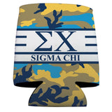 Sigma Chi Can Cooler Set of 12 - Army Camo Pattern