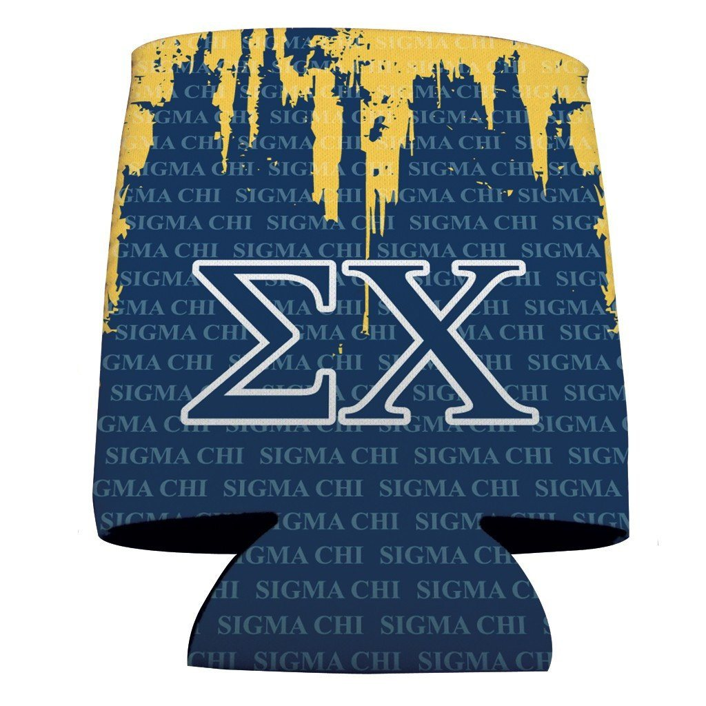 Sigma Chi Can Cooler Set of 12 - EX and Sigma Chi FREE SHIPPING