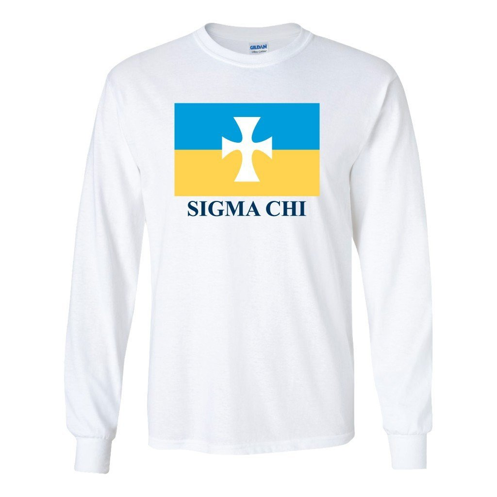 Sigma Chi Long Sleeve T-shirt Flag Logo Design - FREE SHIPPING