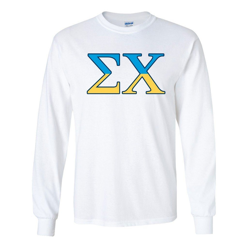 Sigma Chi Long Sleeve T-shirt Greek Letters Design - FREE SHIPPING
