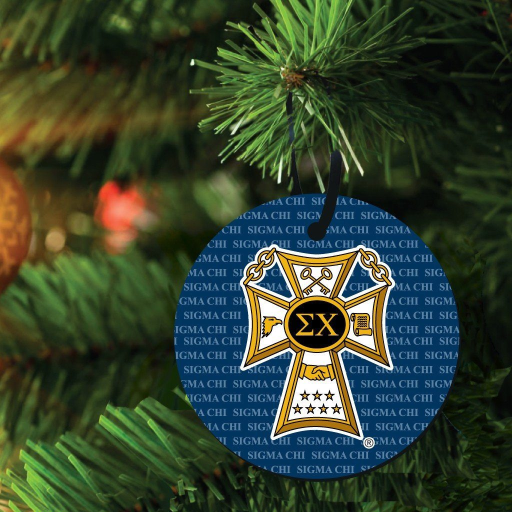 Sigma Chi Ornament - Set of 3 Circle Shapes - FREE SHIPPING