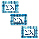 Sigma Chi Ornament - Set of 3 Rectangle Shapes