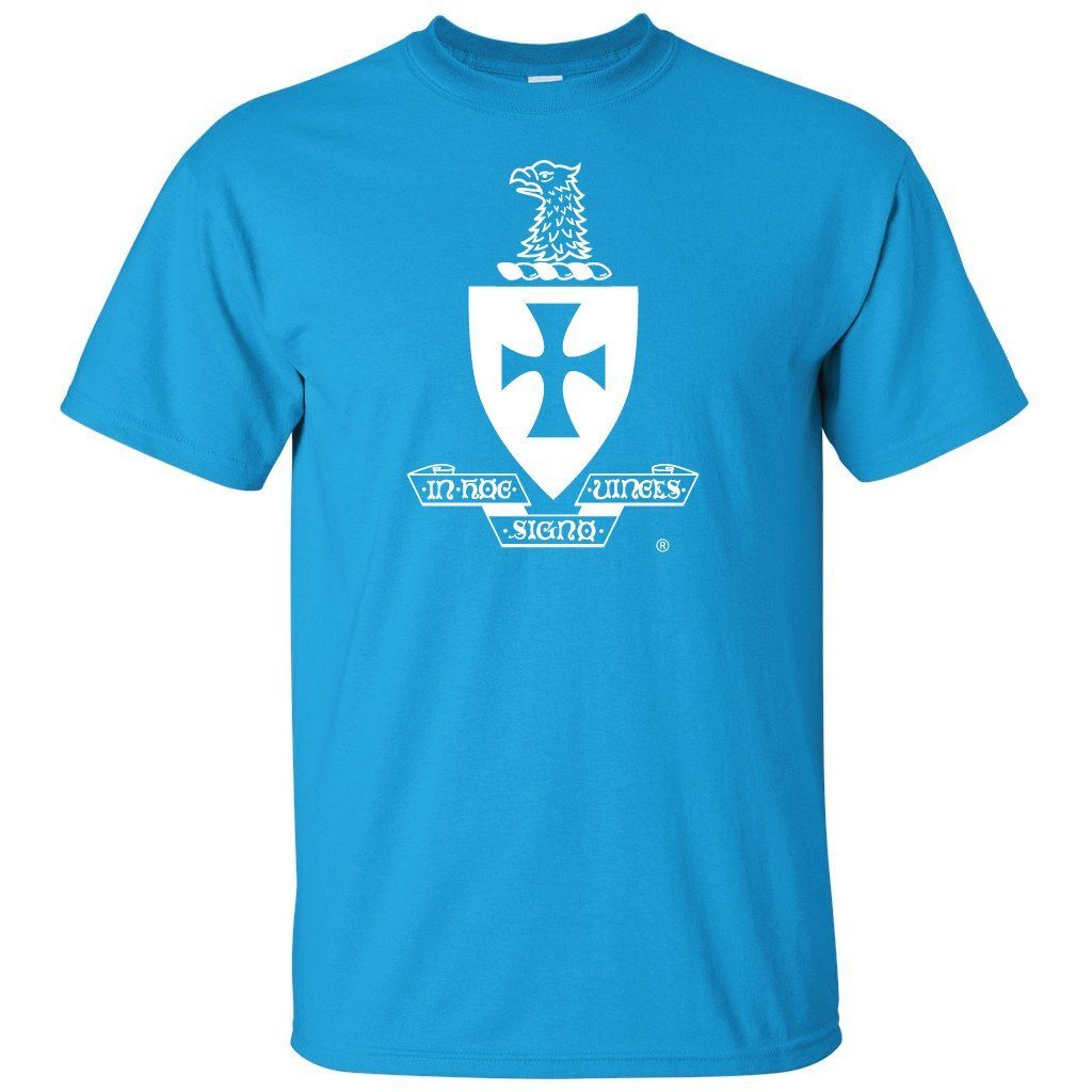 Sigma Chi Standard T-Shirt - White Crest Design - FREE SHIPPING