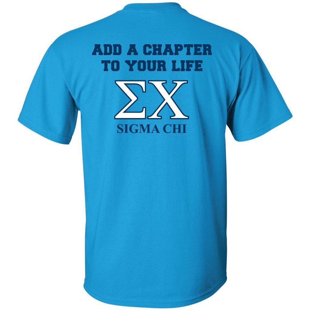 Sigma Chi Sapphire Blue Standard T-Shirt - Add a Chapter - FREE SHIPPING