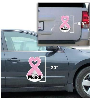 Custom Awareness Ribbon Car Magnet
