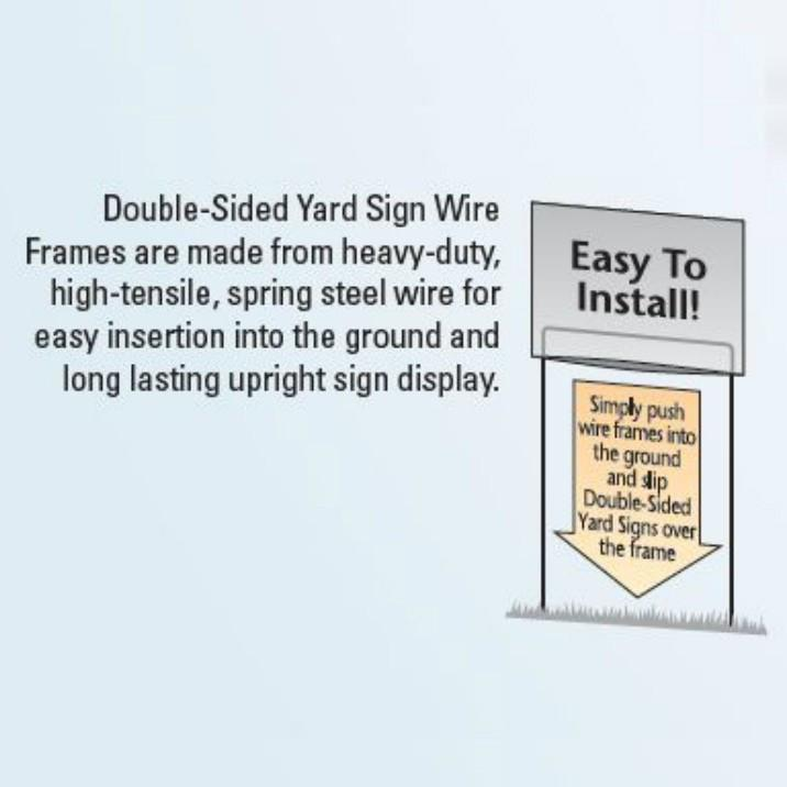"Union Label 8""x26"" Sealed Posterboard Yard Sign with Frames"