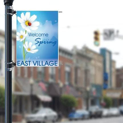"Seasonal 36""x48"" Pole Banner FREE SHIPPING"