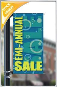 "18""x36"" Semi-annual Sale Pole Banner FREE SHIPPING"