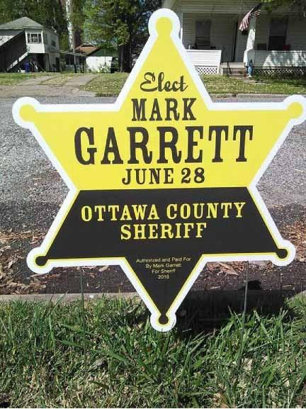 Sheriff Star Shaped Yard Sign - 19.75x22.5 Corrugated Plastic