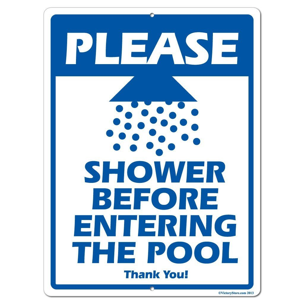 Shower Before Entering The Pool Sign or Sticker - #4