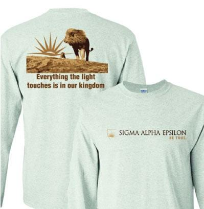 Sigma Alpha Epsilon- Everything the Light Touches Long Sleeve Tshirt