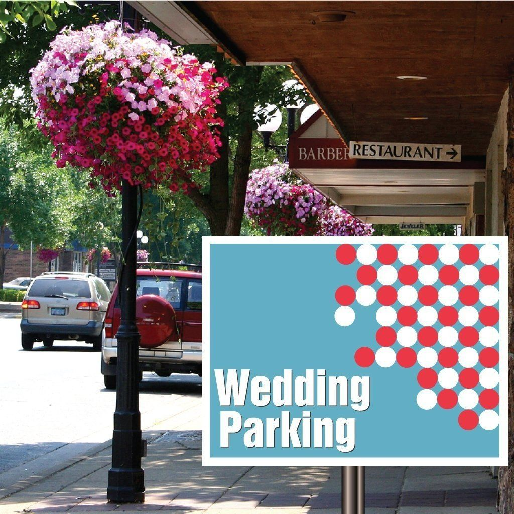 "Wedding Parking Wedding Yard Sign with stakes - 18""x24"" Corrugated Plastic - FREE SHIPPING"