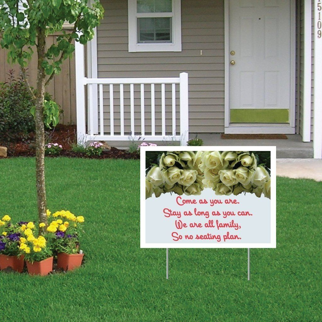 "Wedding Yard Sign with stakes - 18""x24"" - Corrugated Plastic - FREE SHIPPING"