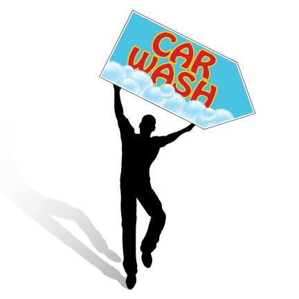 Car Wash Spinner Signs