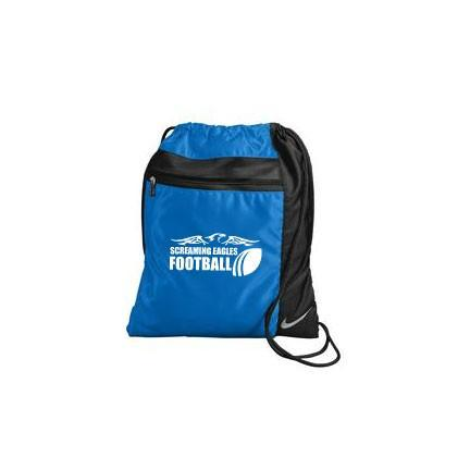 A blue and black sports bag