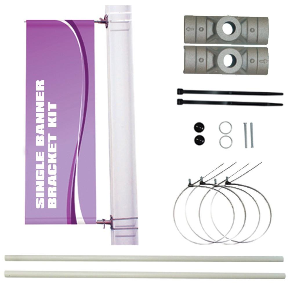 A single pole banner kit