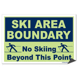Ski Area Boundary Sign or Sticker - #2