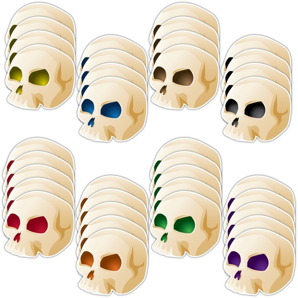 Halloween Skull Lawn Decorations Set of 36 - FREE SHIPPING