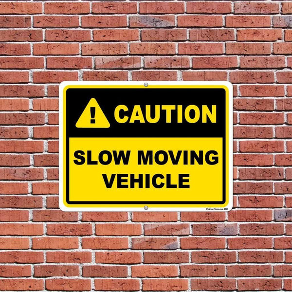 Slow Moving Vehicle Caution Sign or Sticker - #3