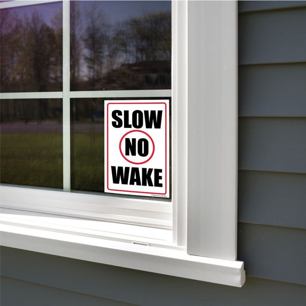 Slow No Wake Sign or Sticker - #3