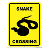 Snake Crossing Sign or Sticker