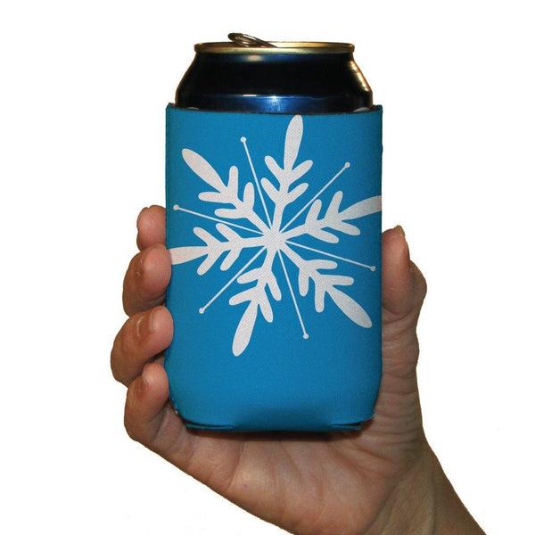 Winter Snowflakes Themed Can Cooler Set - 6 Designs - Set of 6 - FREE