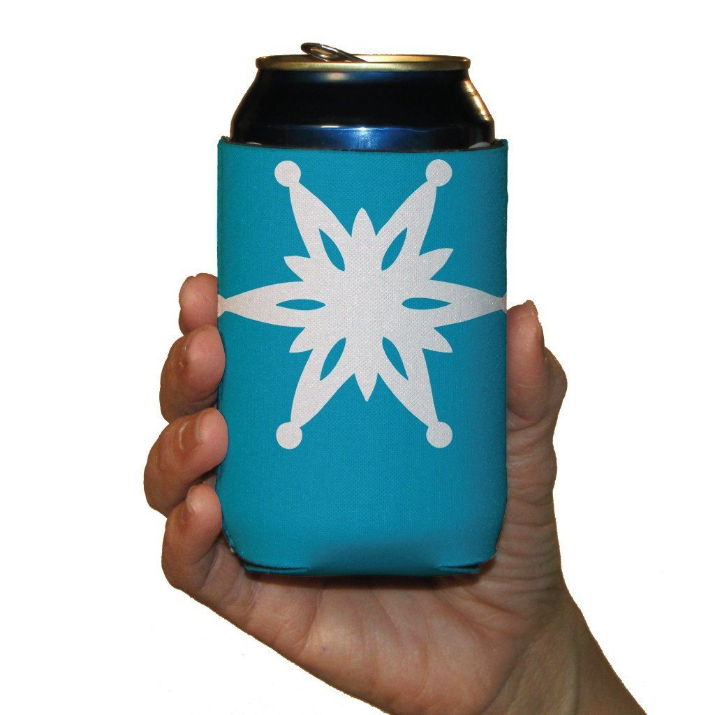Winter Snowflakes Themed Can Cooler Set - 6 Designs - Set of 6 - FREE SHIPPING